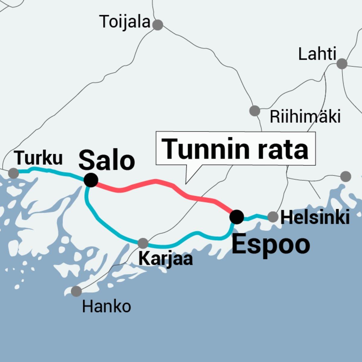 Turku-Helsinki tunnin juna