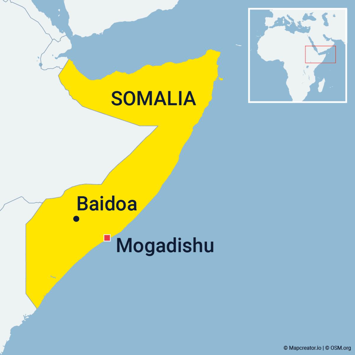 Somalia, Baidu kartalla.