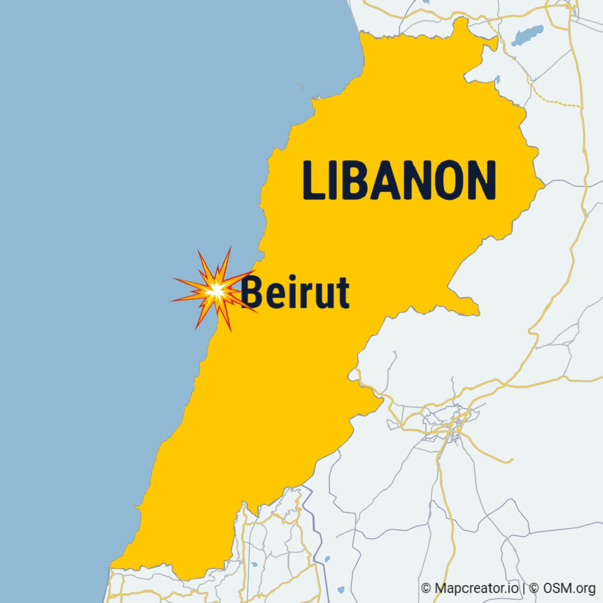 Beirut kartalla.