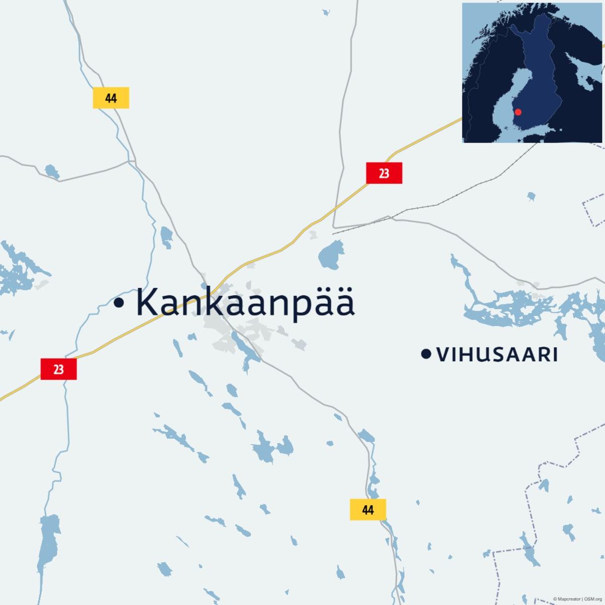 Kankaanpään Vihusaaren kartta