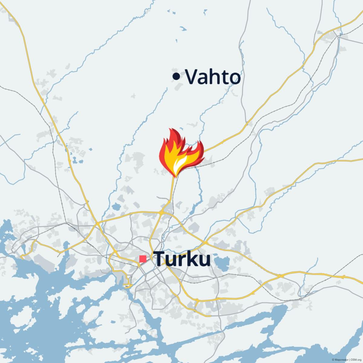 Kartta tulipalosta