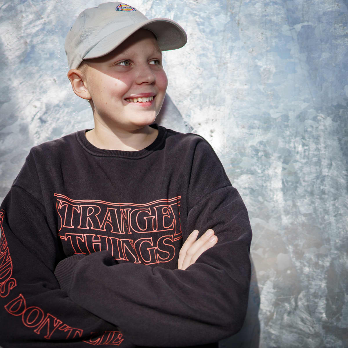 Arabian peruskoulun kahdeksasluokkalainen Ahti Leppänen lähikuvassa.