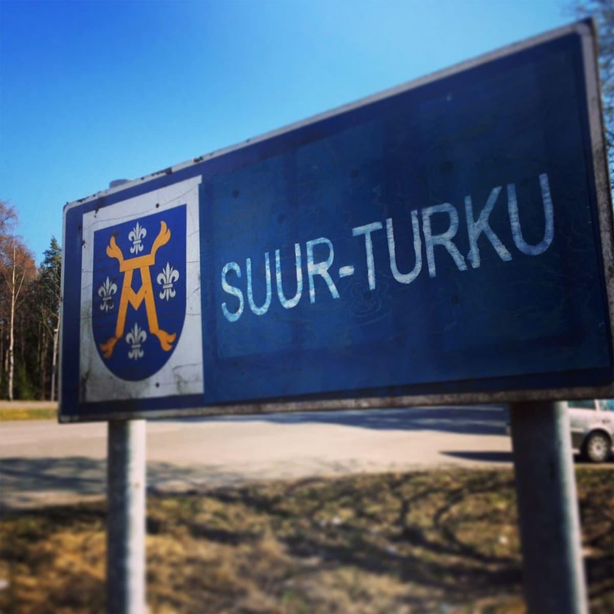 Suur-Turku -kyltti.