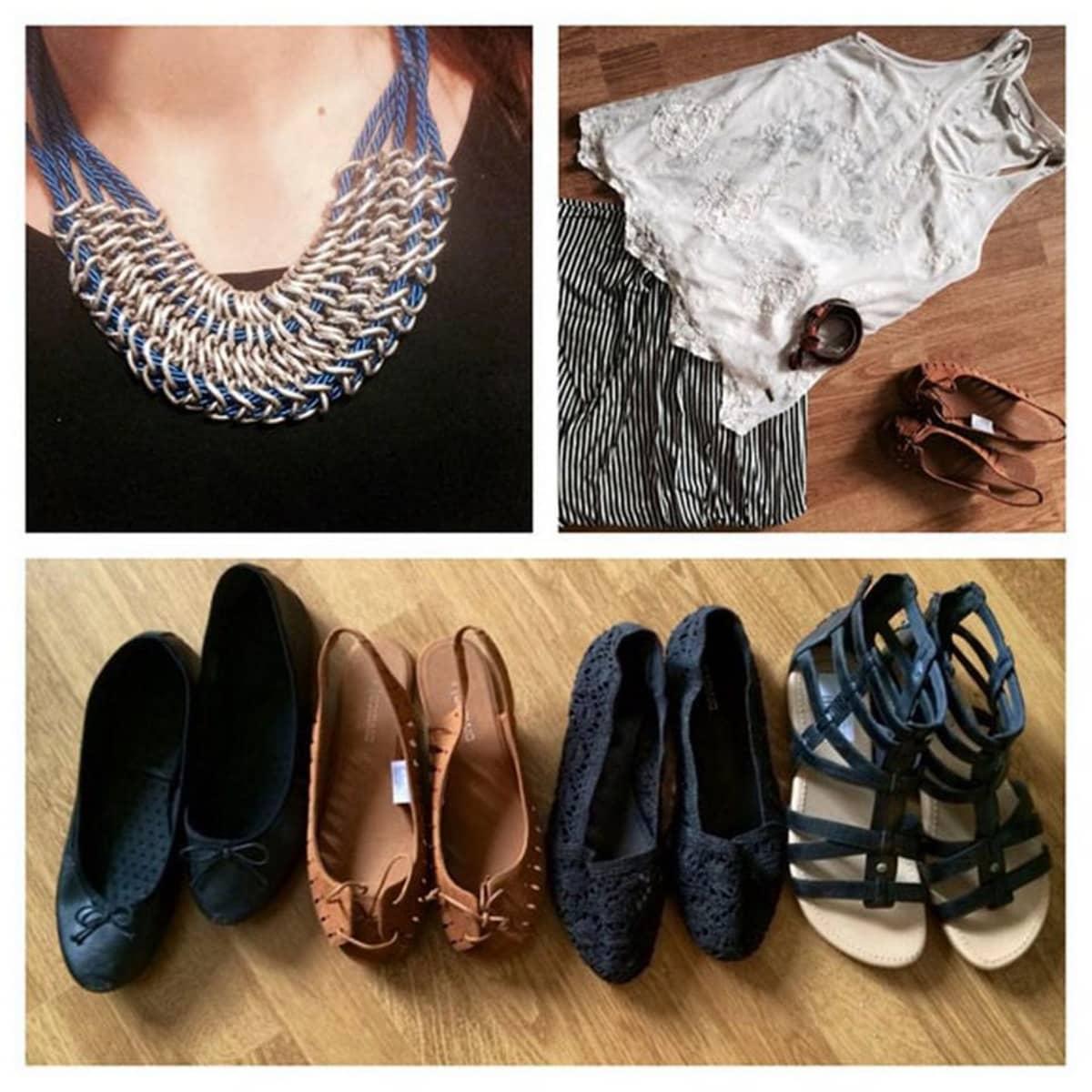 kirttputori, a-studio, toinen kierros, kierrätys, second hand, vaatteet, kengät, kaulakoru
