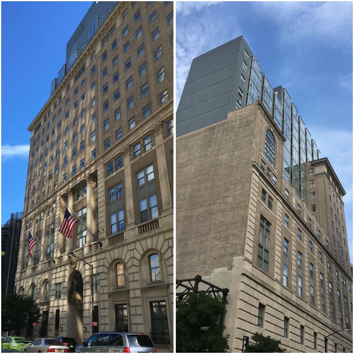 New York Cityn opetusviraston entinen päärakennus on muutettu asunnoiksi ja rakennuksen kerroskorkeutta on nostettu.