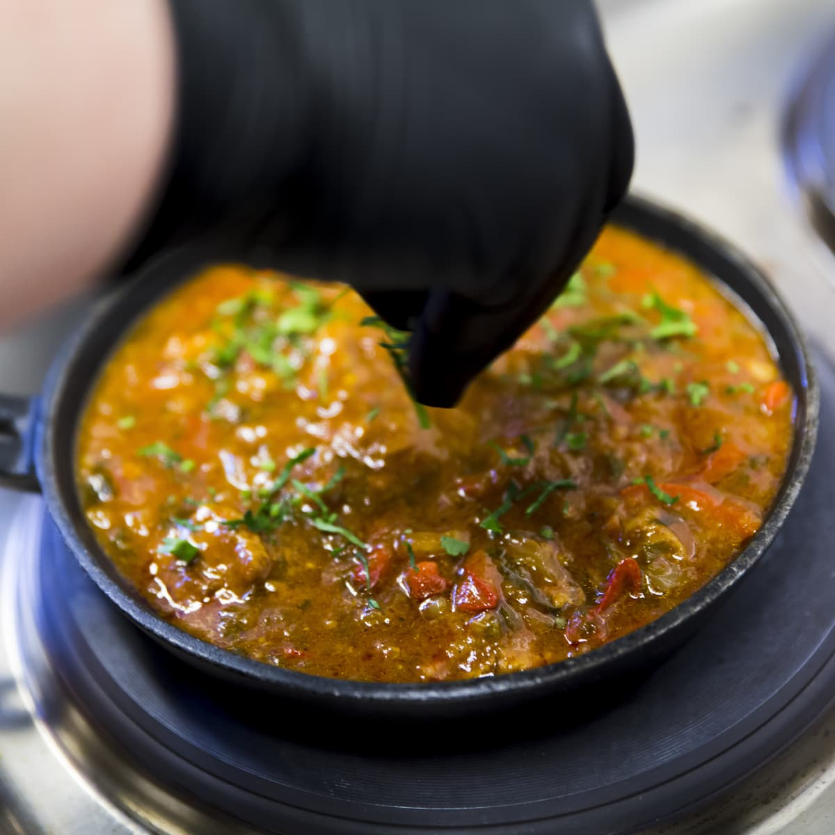 Gerogialainen ruoka-annos chashushuli ravintola Rionissa