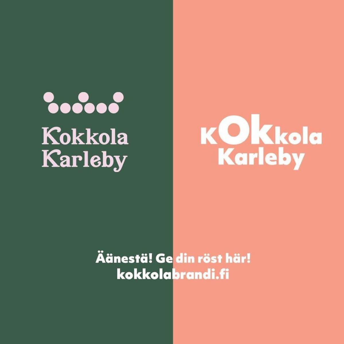 Ehdotukset Kokkolan kaupungin uudeksi ilmeeksi.