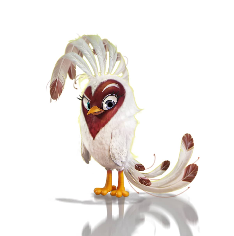 Pelihahmo Angry Birds Evolution pelistä.