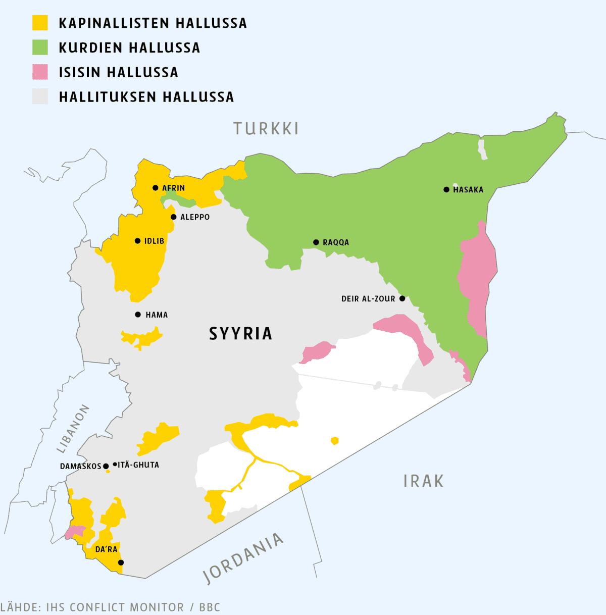 Syyria kartta.