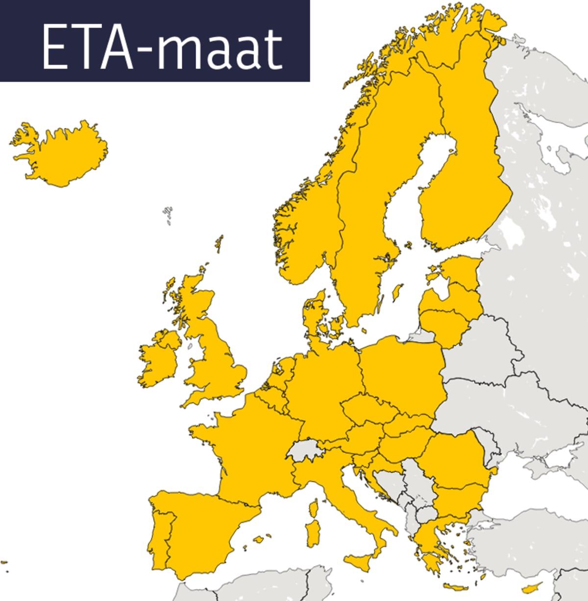 ETA-maat kartta
