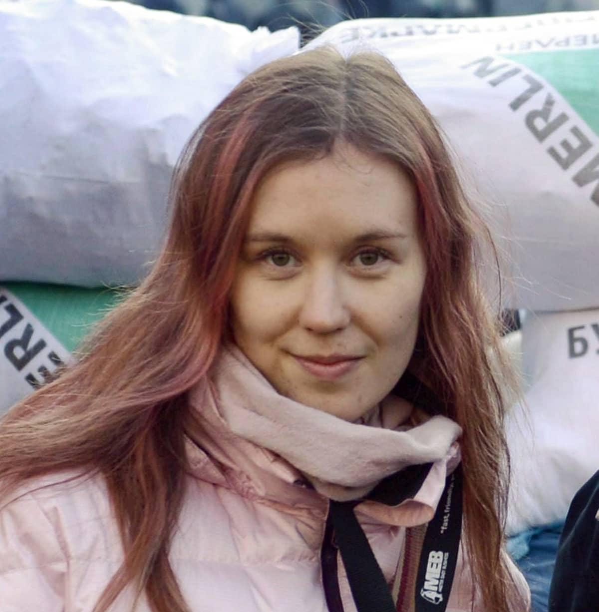STT-Lehtikuvan toimittaja Maria Annala Kiovan mielenosoituksissa Ukrainassa 24. tammikuuta 2014.