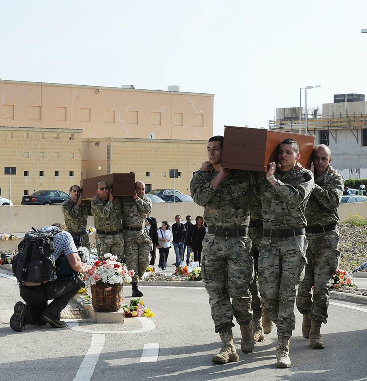 Hautajaiset Maltalla.