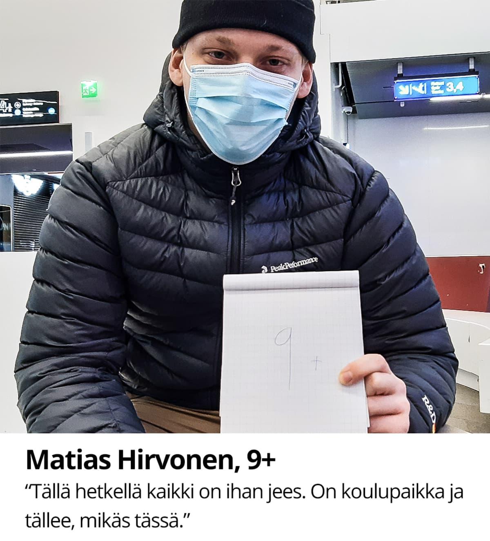 Matias Hirvonen, 9+