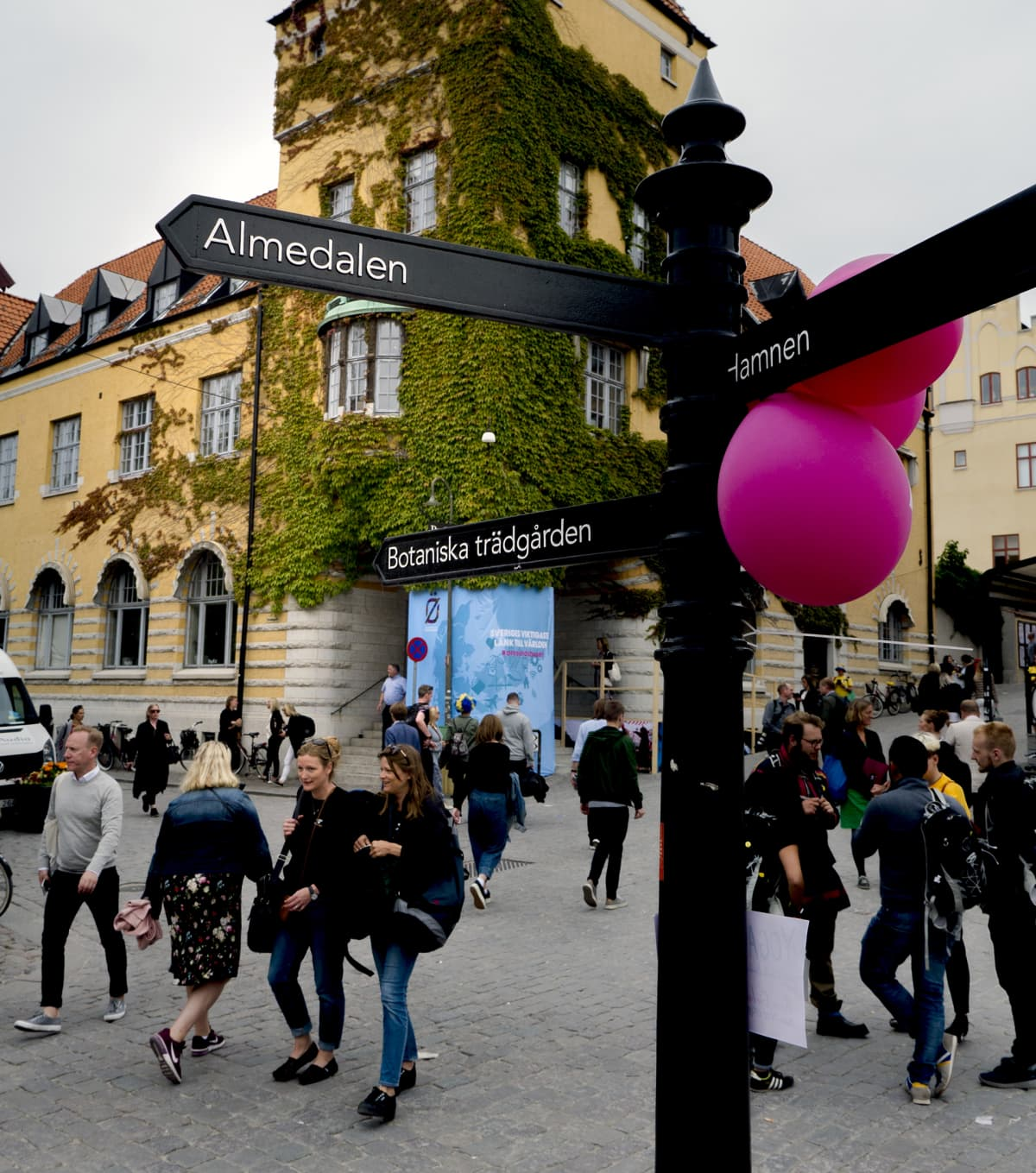 Katukuvaa Ruotsin politiikkaviikolta Almedalenista.