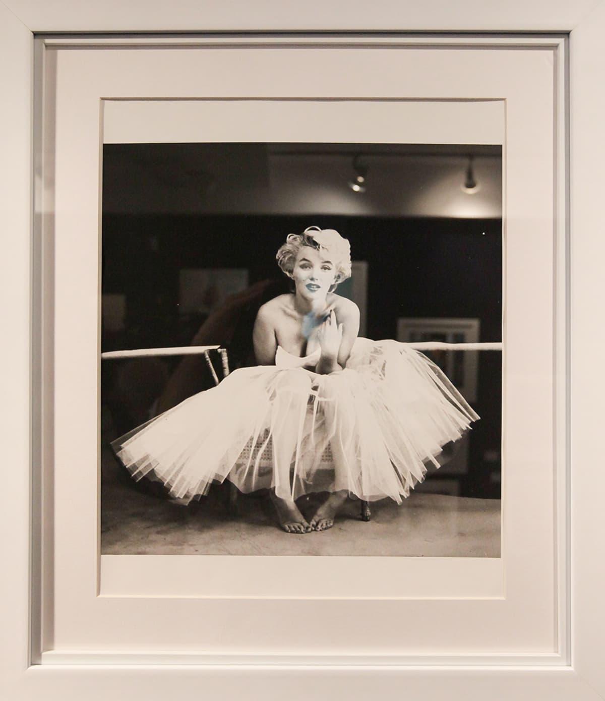 valokuva Marilyn monroen kehystetystä valokuvasta.