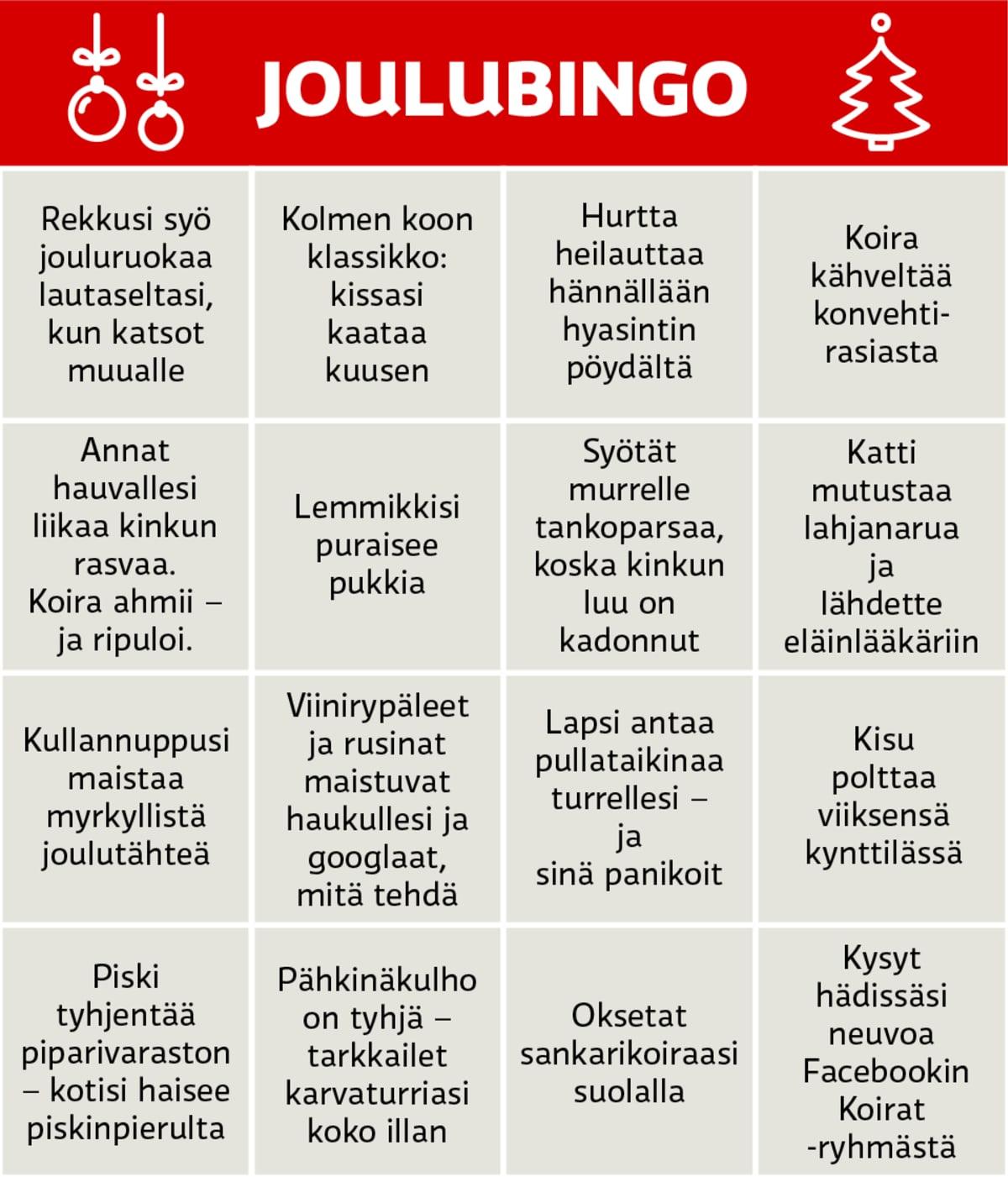 Joulubingo-grafiikka