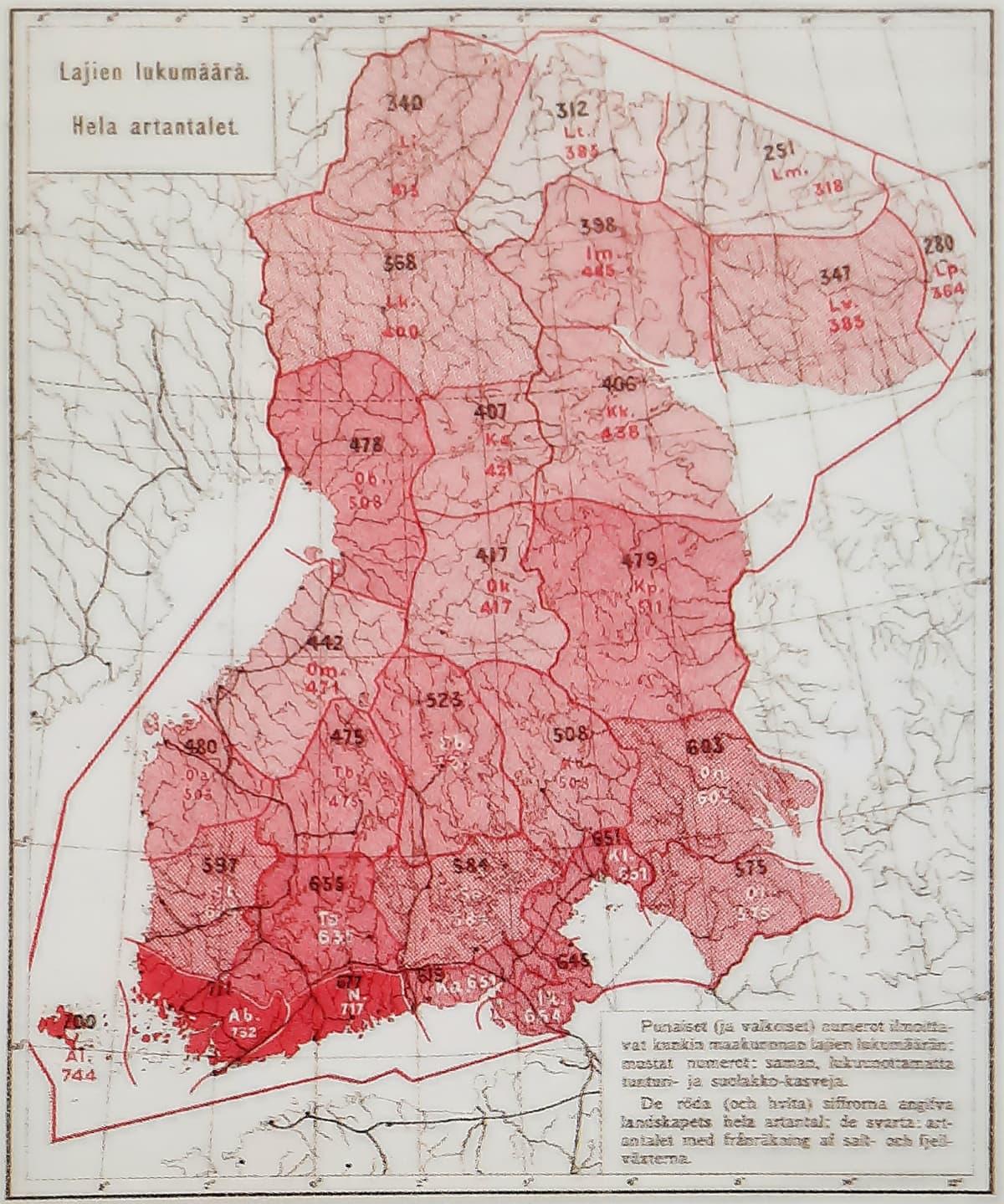 Kartta geologisesta Suur-Suomesta