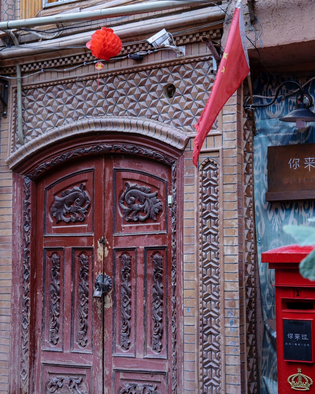 Valvontakamera Xinjiangissa.