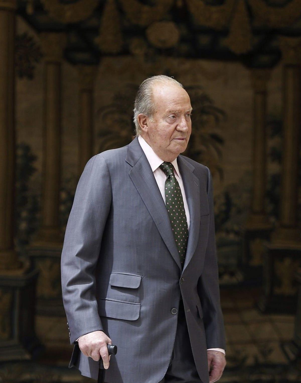 Kuningas Juan Carlos kuvattuna Madridissa 13. kesäkuuta 2014.