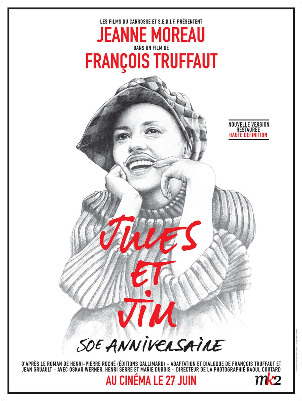 Jeanne Moreau Jules&Jim -julisteessa.