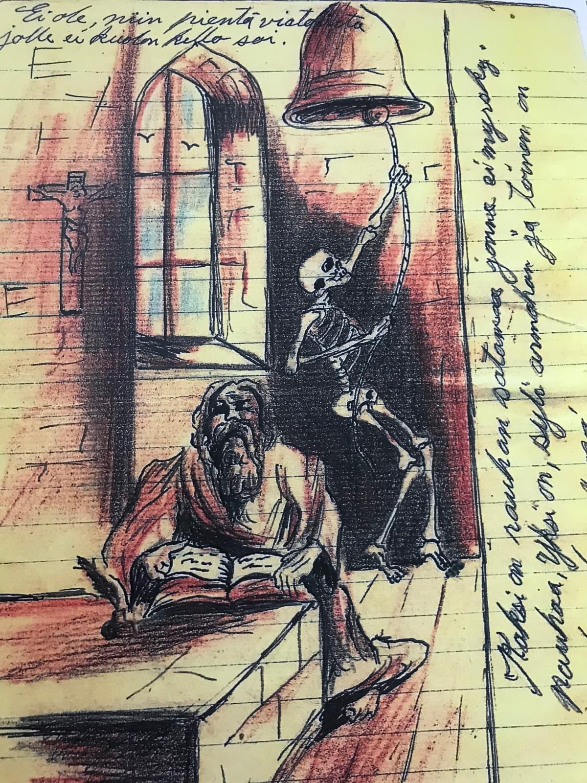 Kuva Reino Nyrösen päiväkirjasta