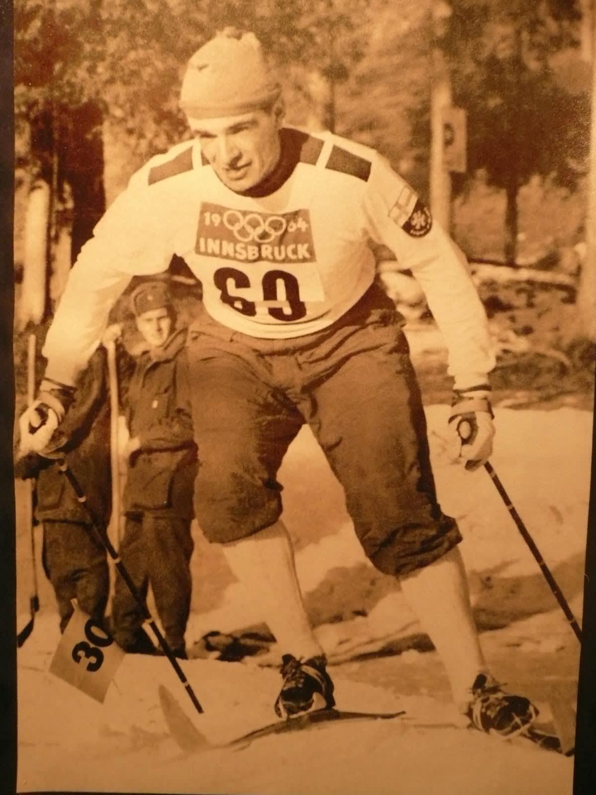 Eero Mäntyranta Innsbruckin olympialadulla vuonna 1964.