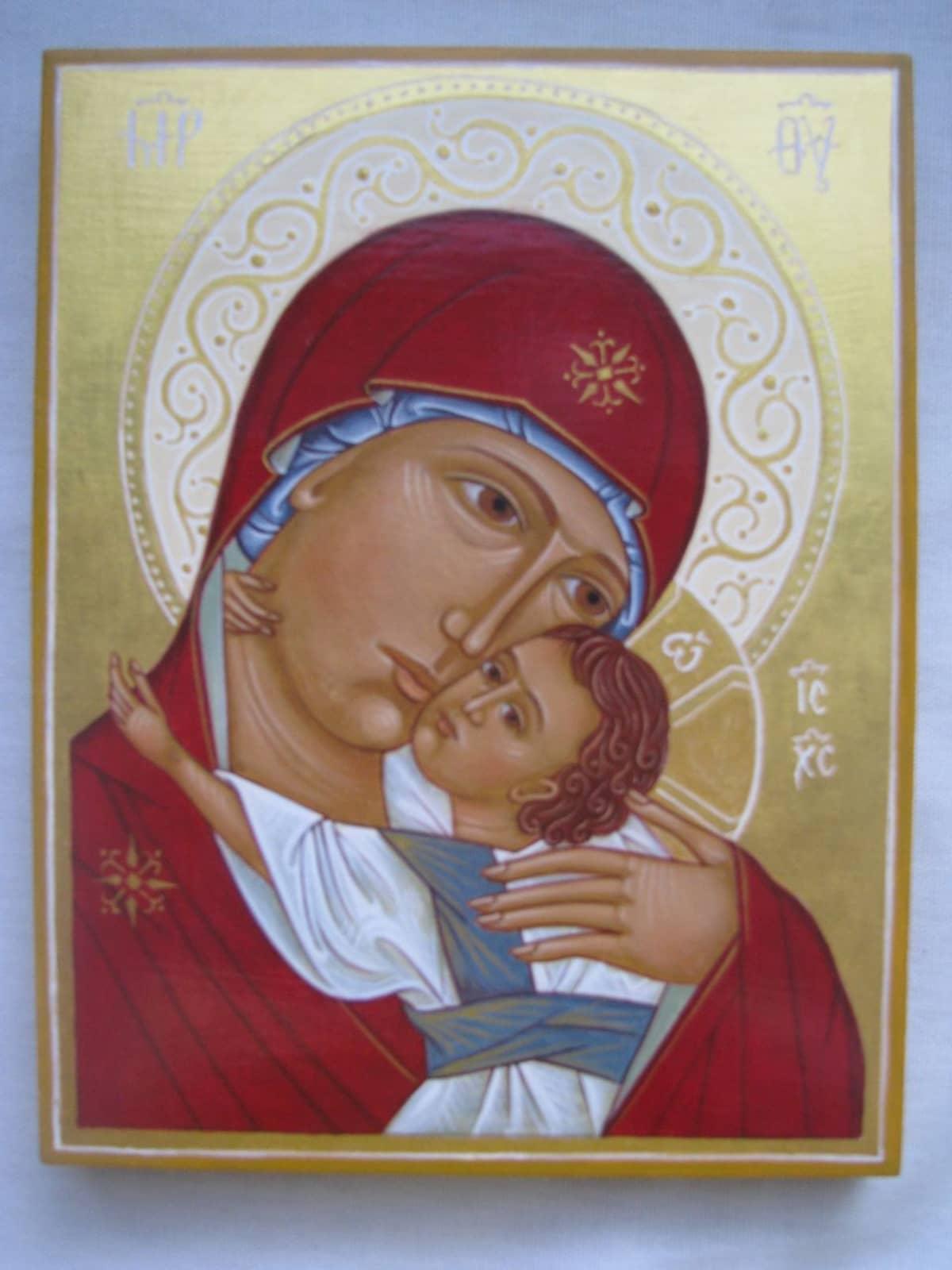 Neitsyt Maria ja Kristus -ikoni