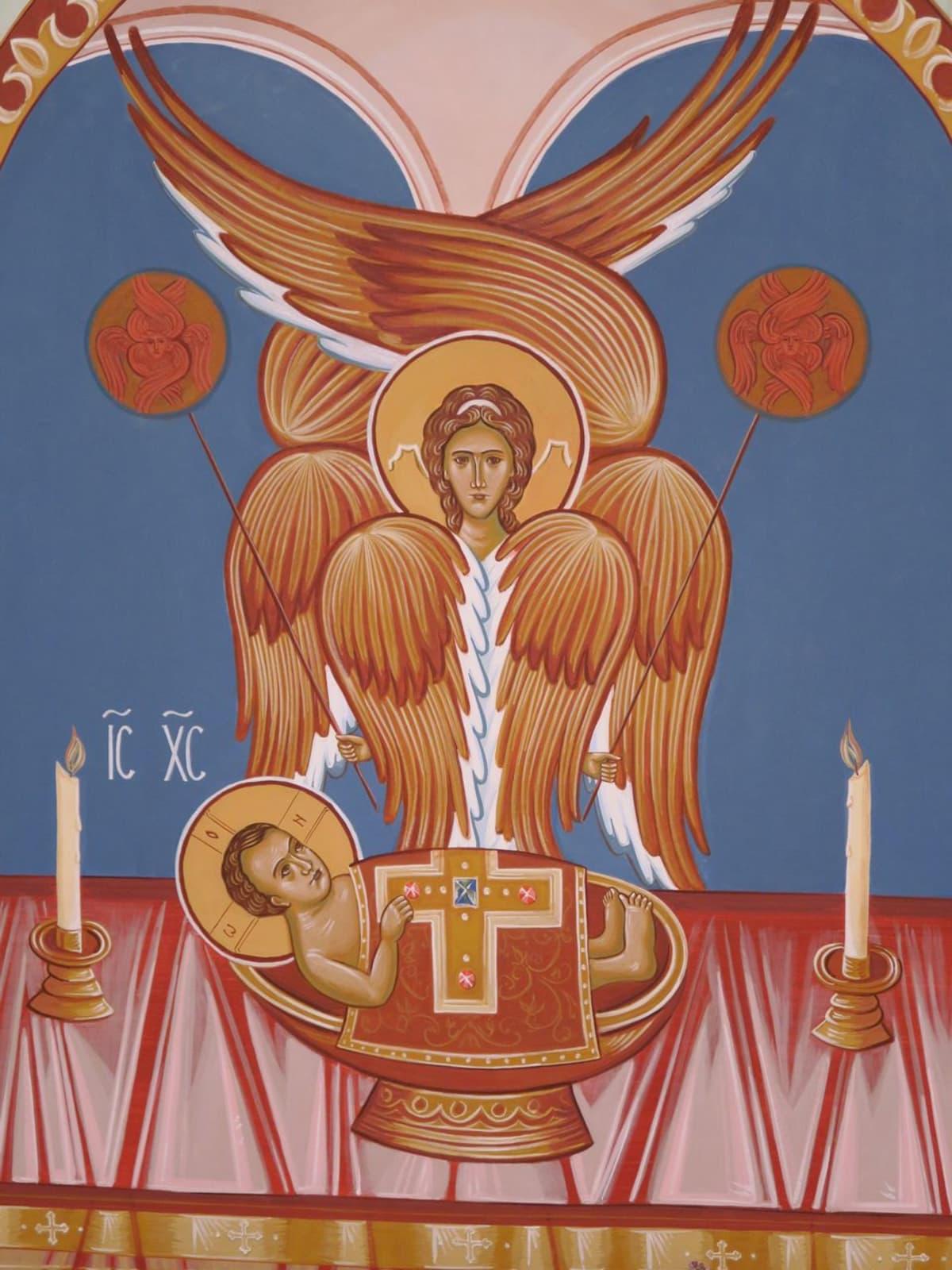 osa athos-luostarikeskuksen ikonia