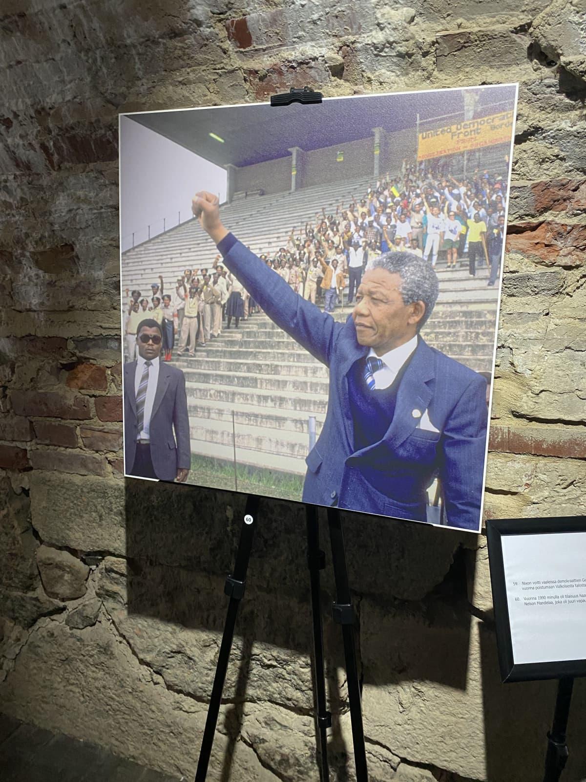 Rauli Virtasen ottama valokuva Nelson Mandelasta
