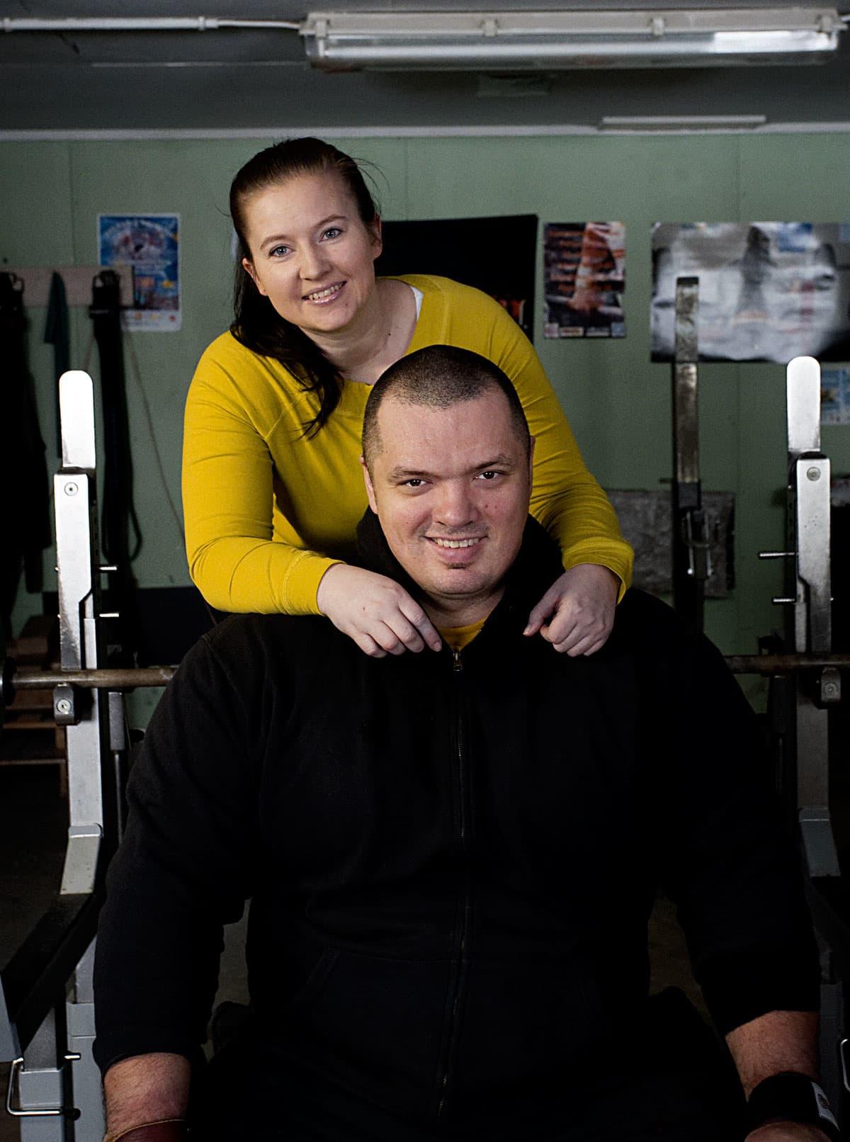 Fredrik Smulter ja vaimo Monika