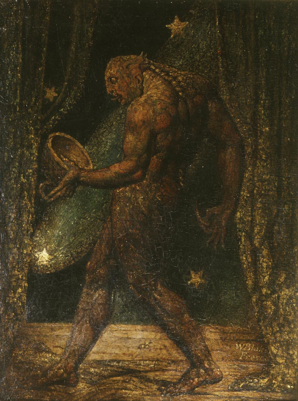 The Ghost of a Flea, n.1819-20 William Blaken maalaus kummituksesta.