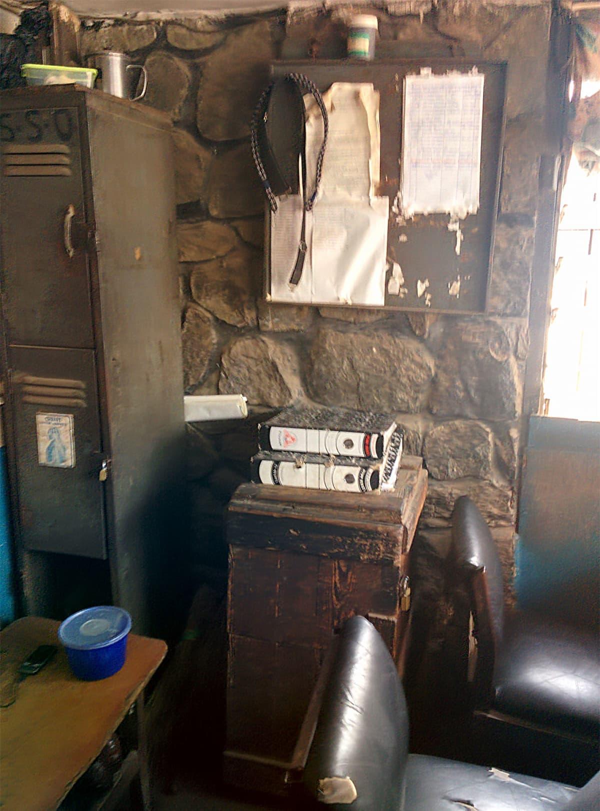 Sisäkuva nigerialaisesta toimistosta