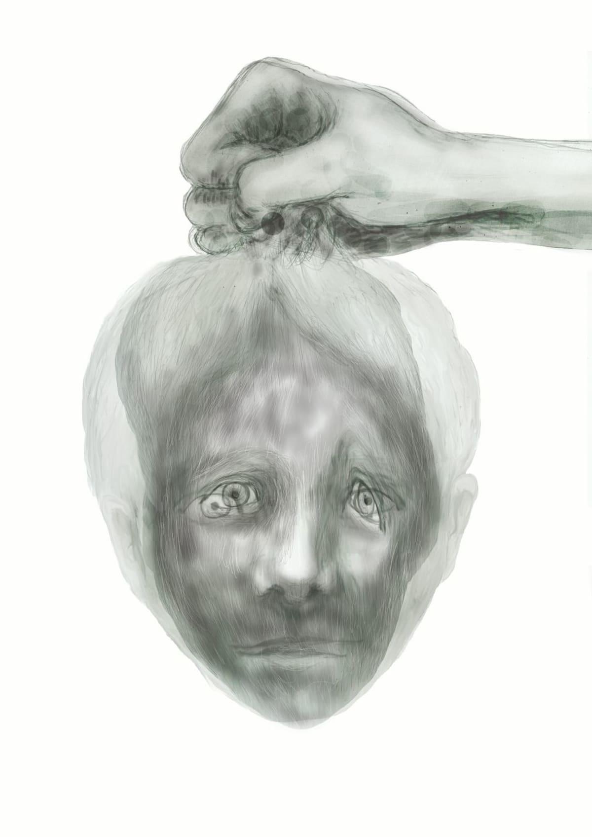 Taiteilja Sari Hiltusen kuvituskuva Kainuun maagisista aarretarinoista kertovasta teoksesta.
