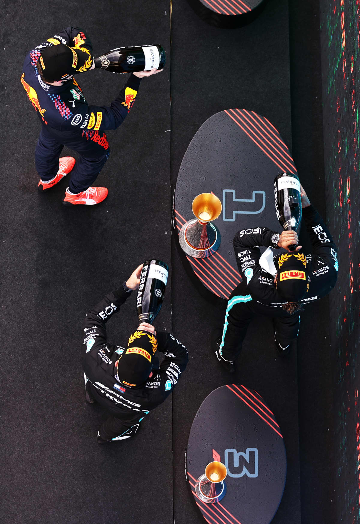 Verstappen, Hamilton, Bottas