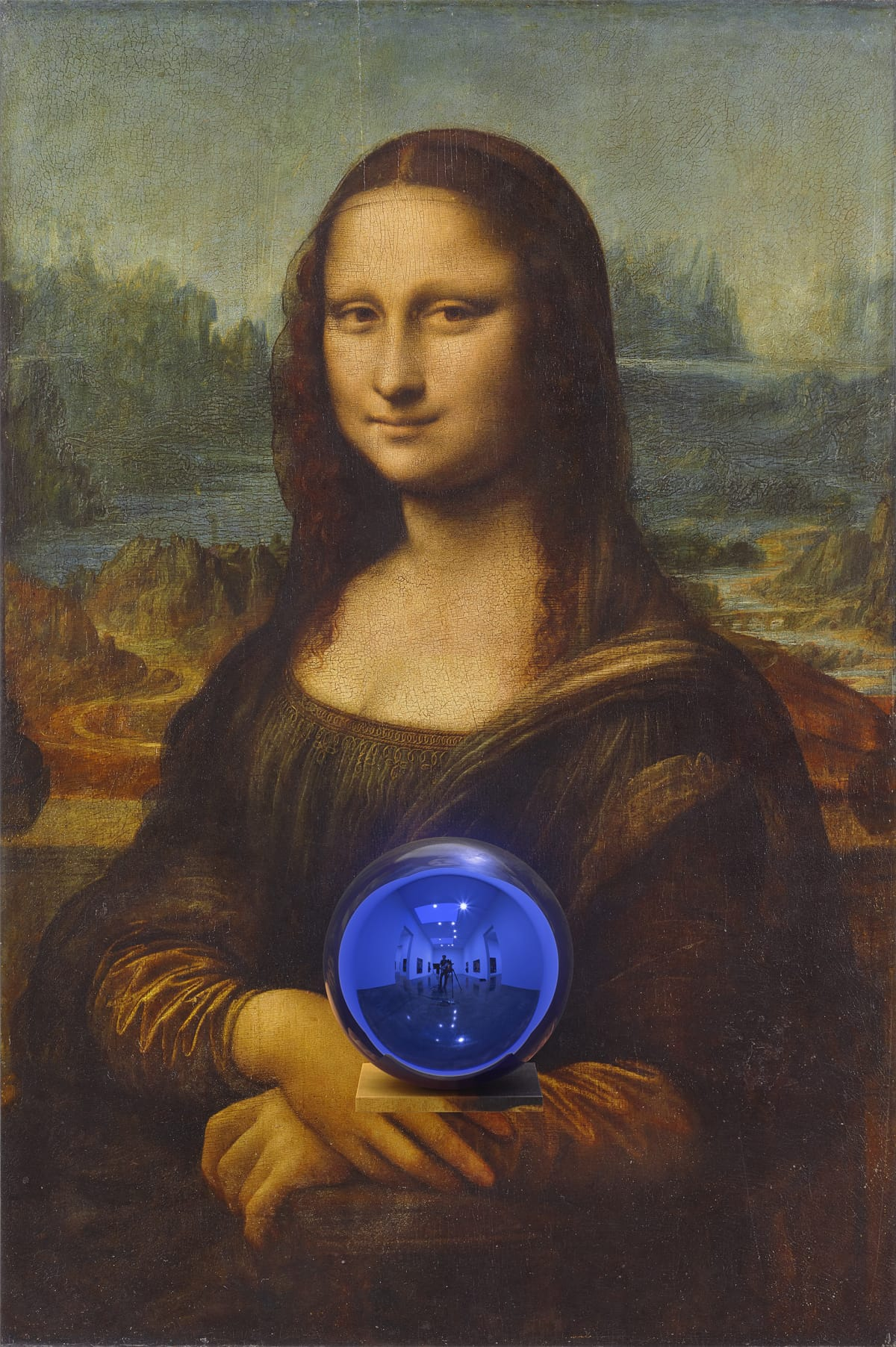 Jeff Koons: Gazing Ball (da Vinci Mona Lisa) (2015).