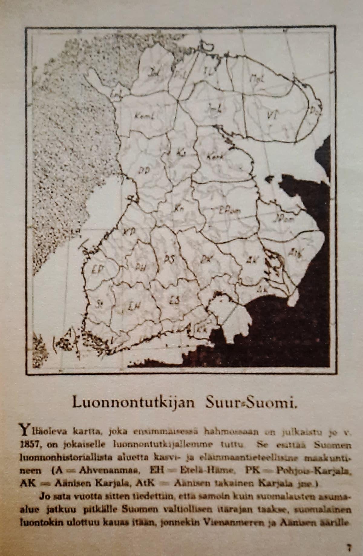 Luonnontutkijan Suur-Suomi -kartta