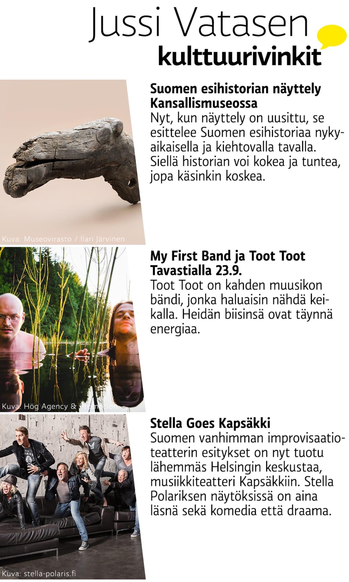 Jussi Vatasen kulttuurivinkit