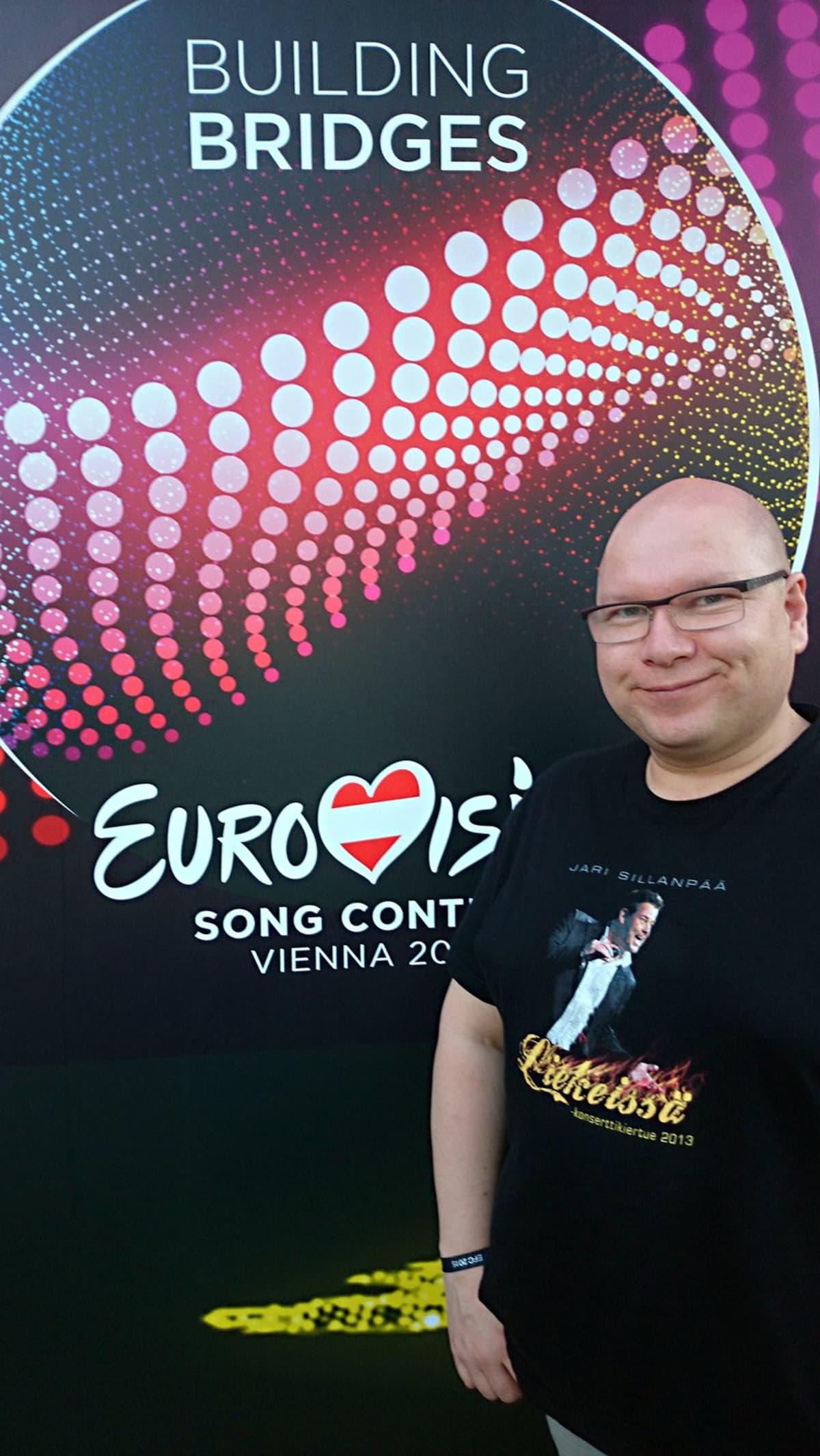 Euroviisufani Martti Heikkinen