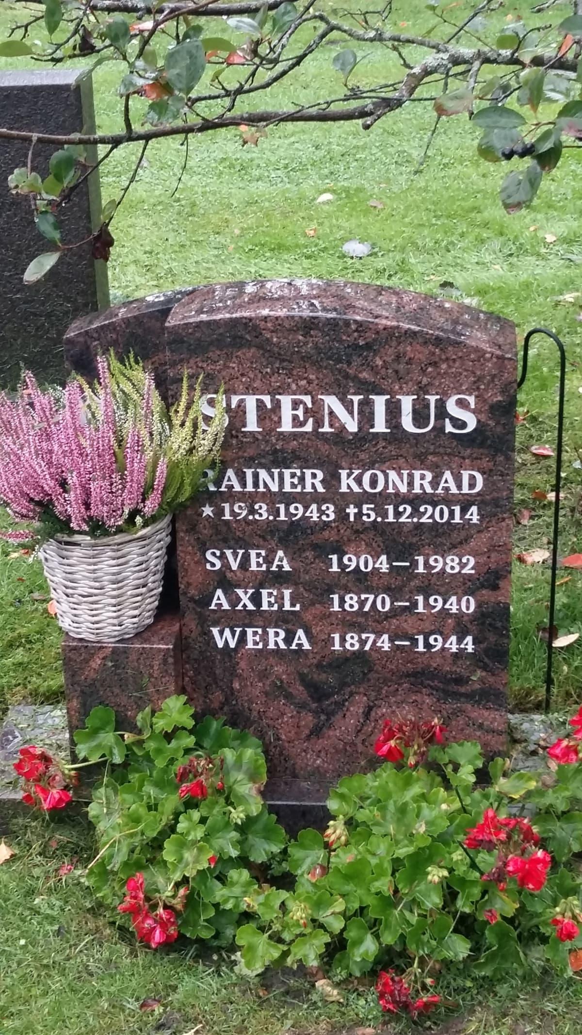 Rainer Steniuksen hauta
