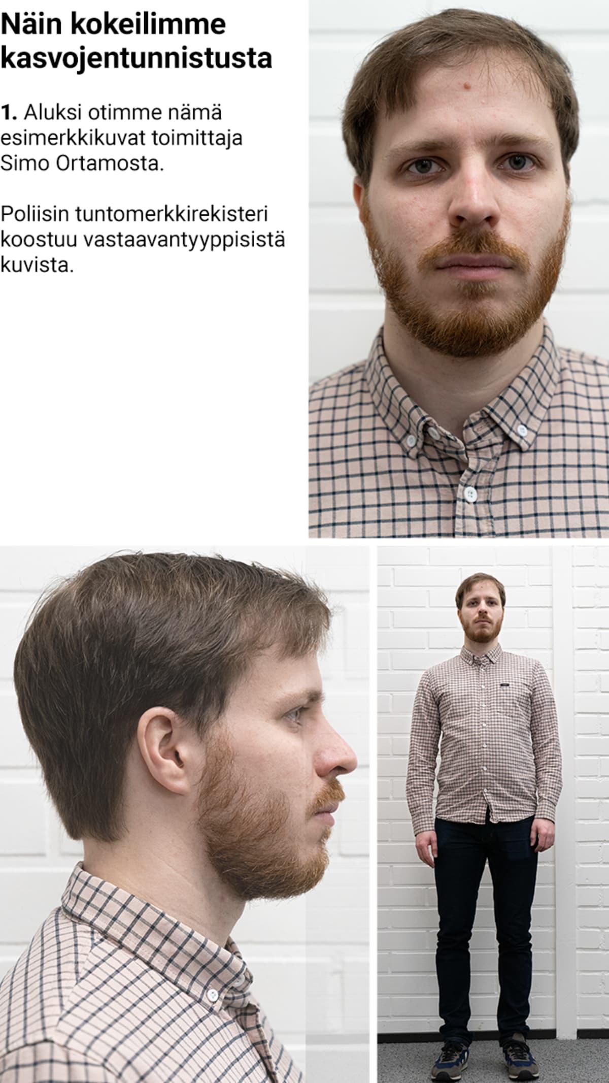 Infografiikka kasvojentunnistusjärjestelmästä.