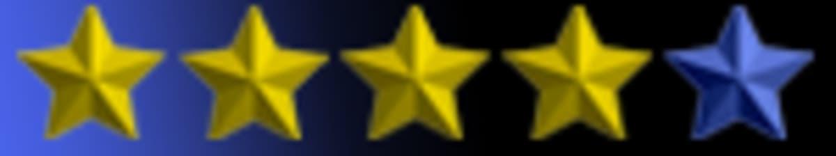 Tähtihetken neljä tähteä keltaisena