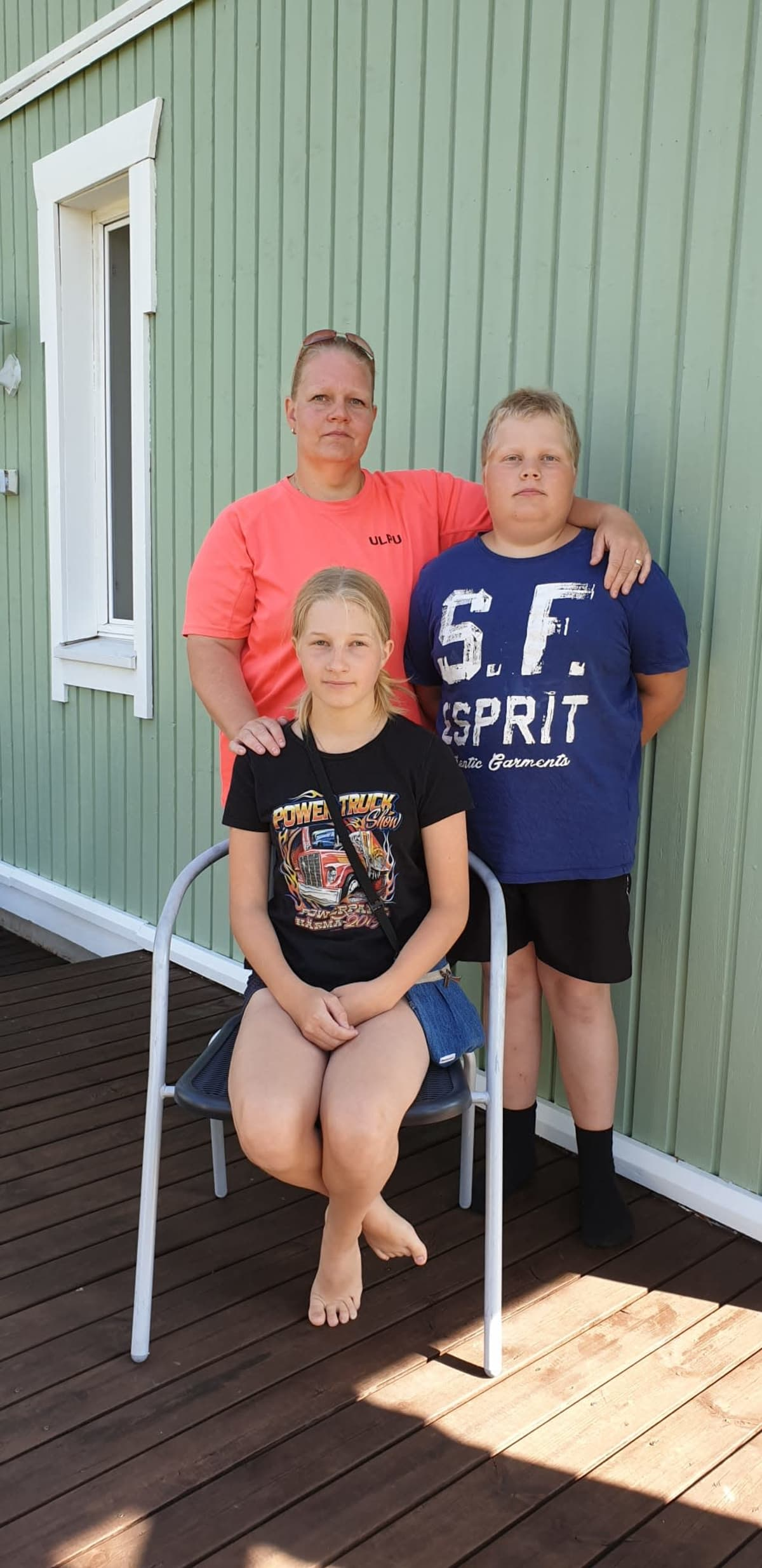 Ulpu, Niilas ja Neela Keränen.