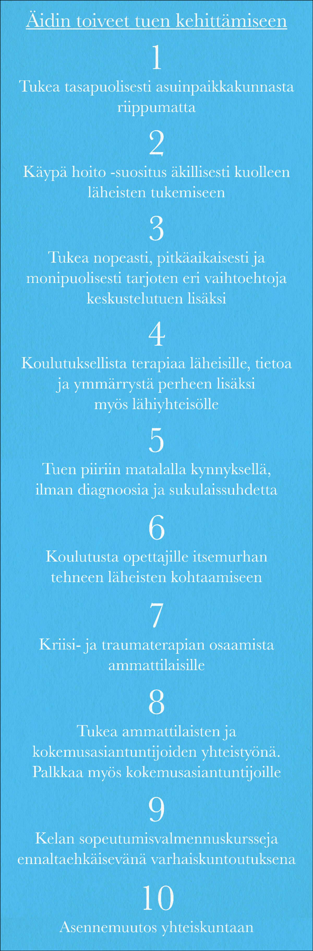 10 toivetta / Mediadeski
