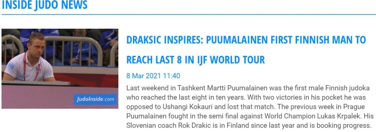 Suomalainen judo nousi otsikoihin Tashkentin Grand Slamin jälkeen