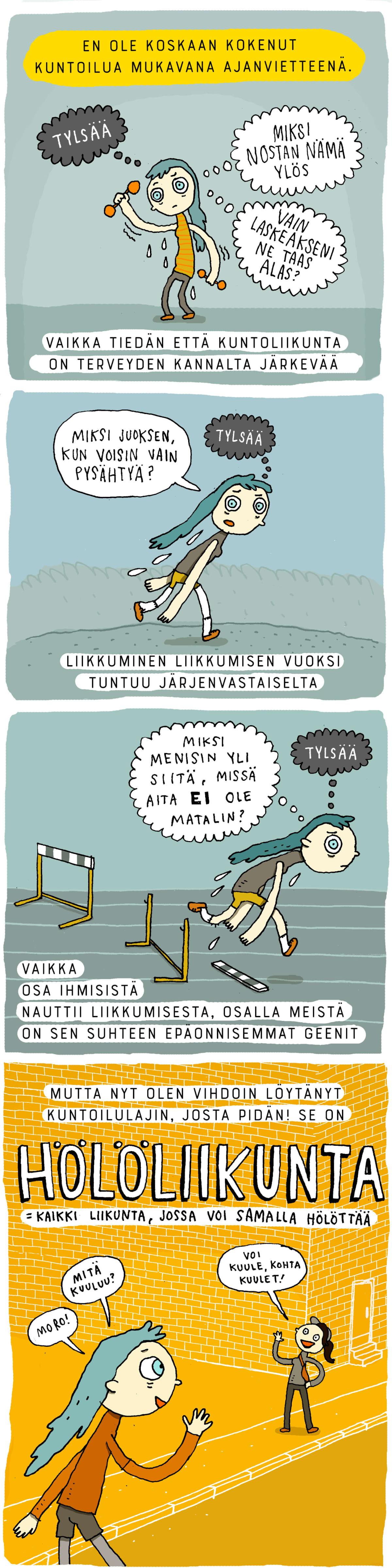 Aiju Salmisen sarjakuva.