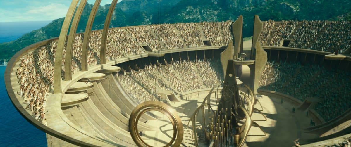 Tarujen saarella Themysciralla sijaitseva Amatsonien areena elokuvasta Wonder Woman 1984.