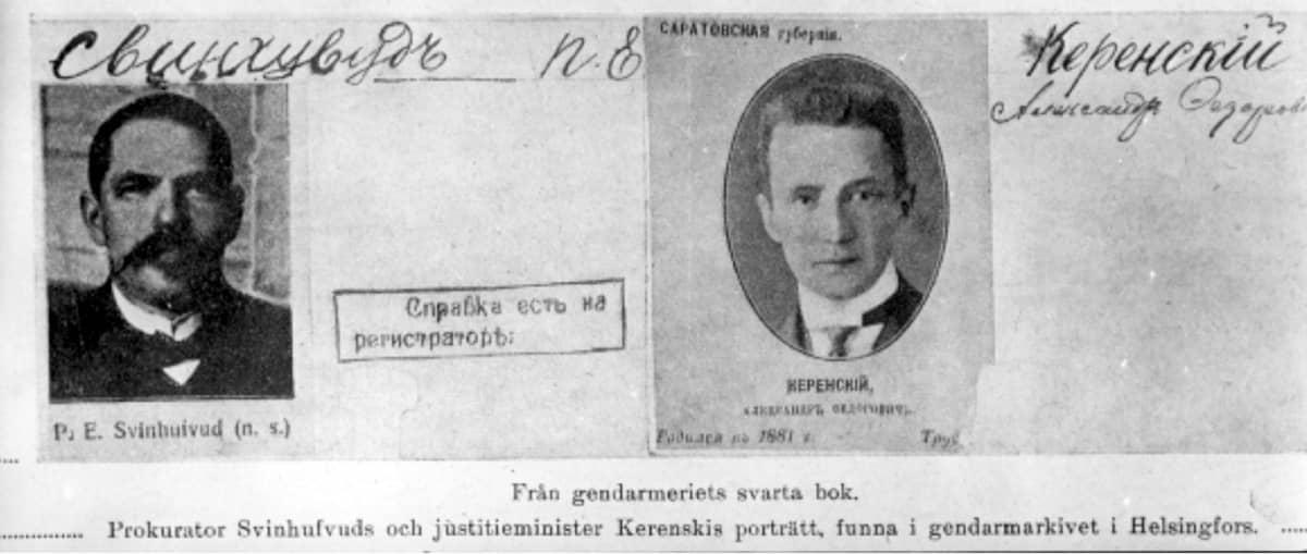 P.E. Svinhufvudin ja Aleksandr Kerenskin pidätys.