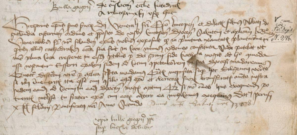 Paavin 23.1.1229 lähettämä kirje on kopioituna tallessa Turun tuomiokirkon mustassa kirjassa.