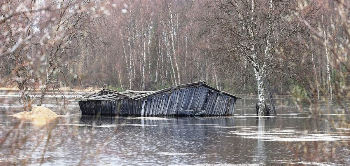 Ivalojoki tulvii 12.5.2018