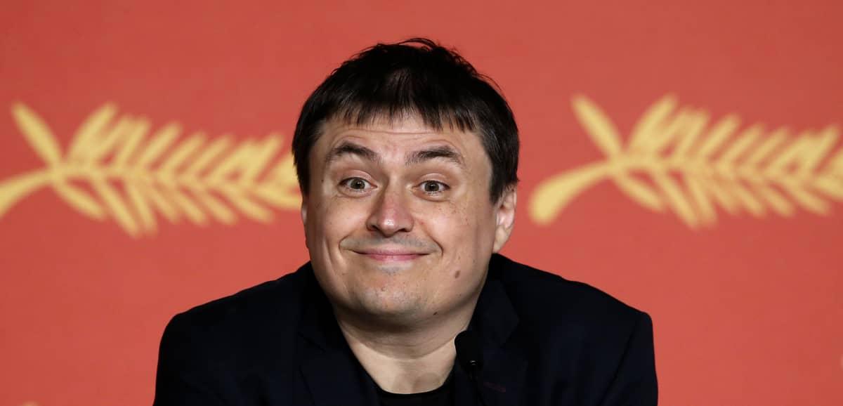 Romanialainen ohjaaja Cristian Mungiu Cannesin elokuvajuhlilla.